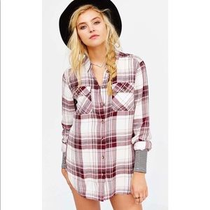 Urban Outfitters 'Waterfall' Plaid Tunic